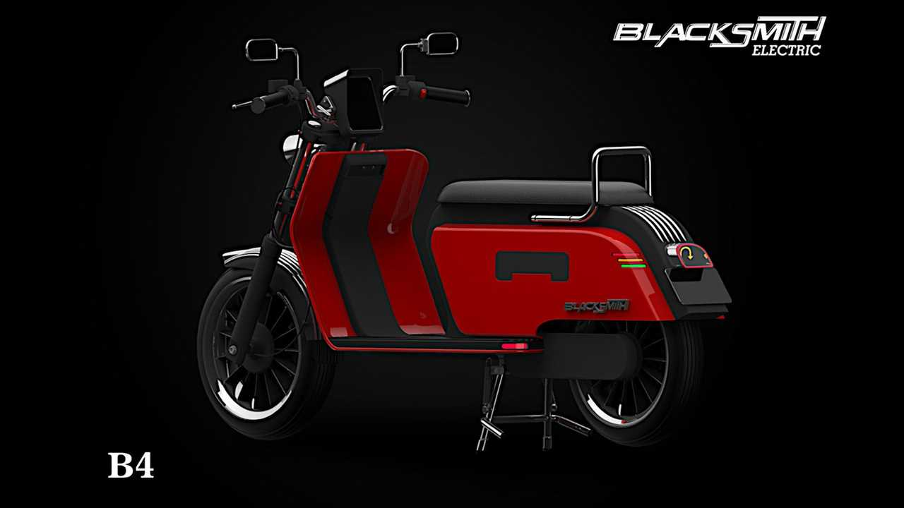 Blacksmith Electric B4 Scooter - Left Rear Angle