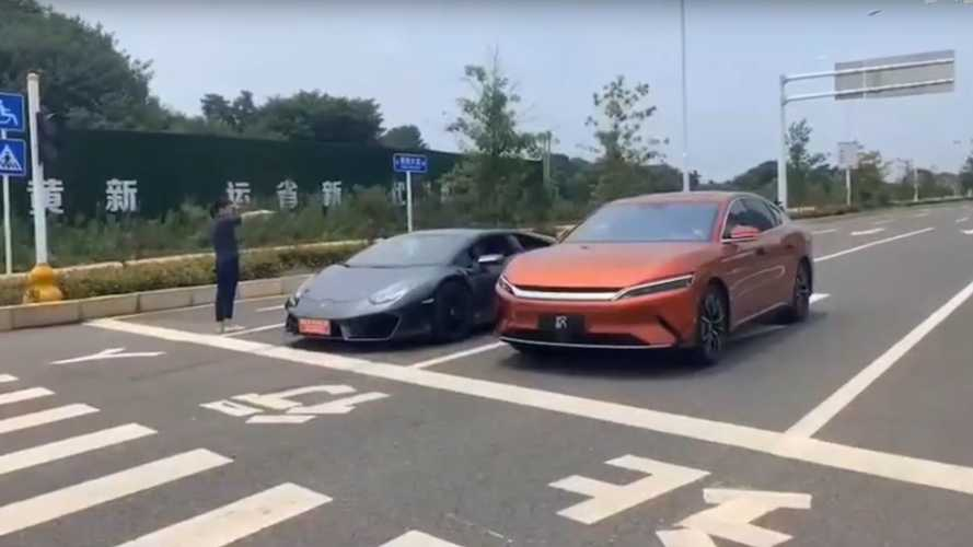 Watch BYD Han Drag Race Lamborghini Huracan And Tesla Model 3