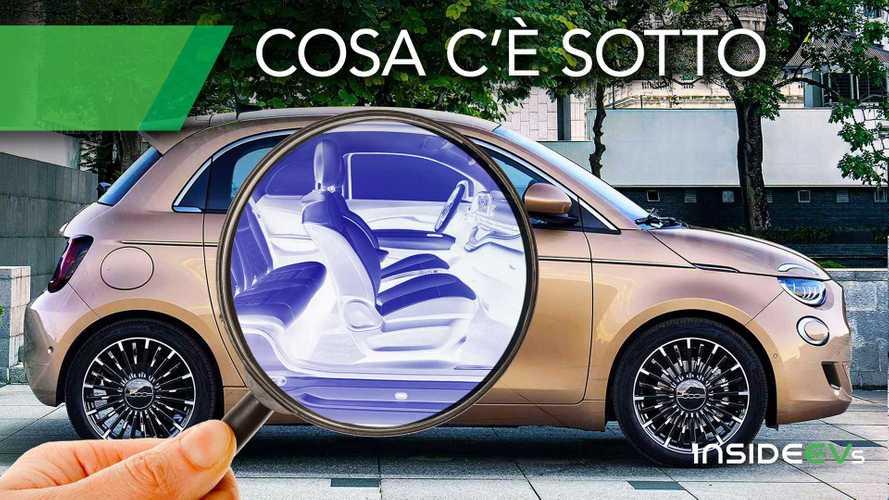 La tecnica della Fiat 500 elettrica: dal pianale alla batteria Samsung