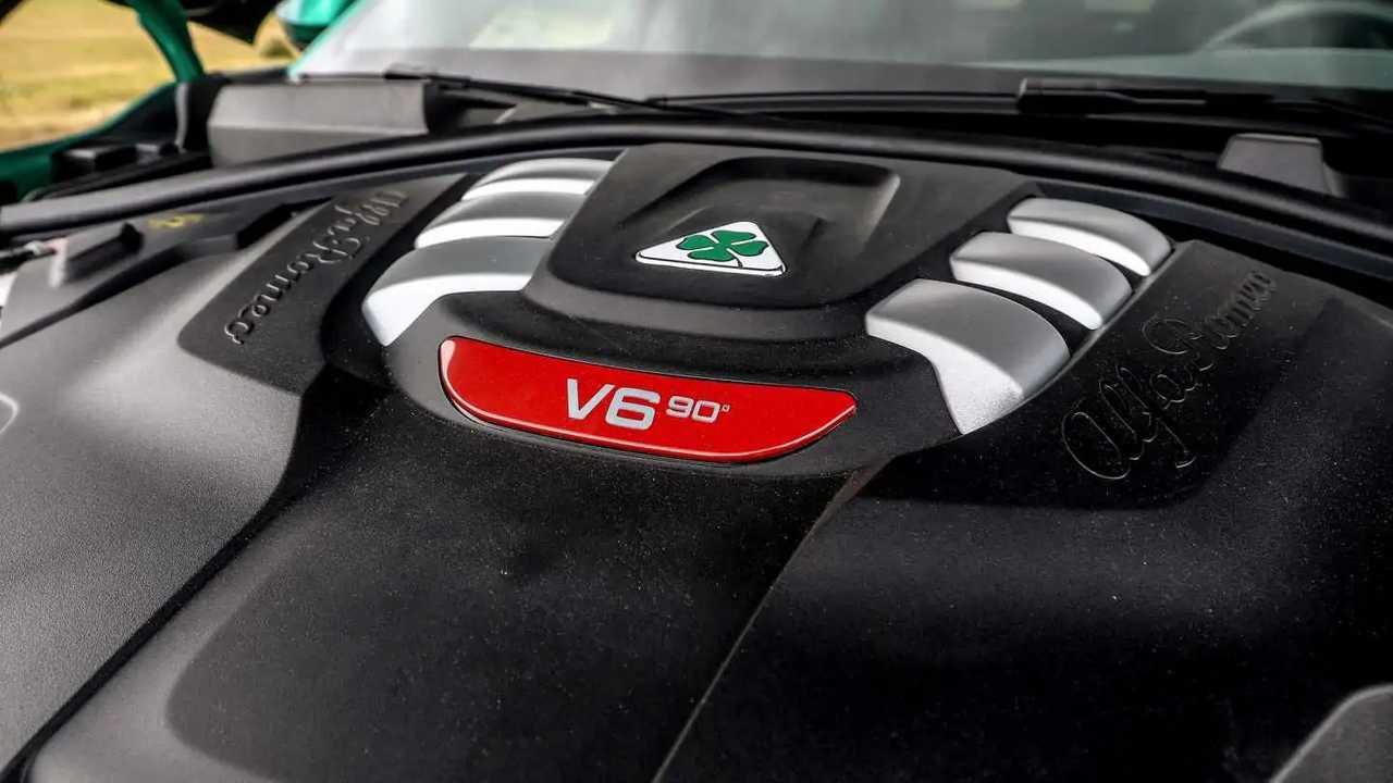 Motore V6 Alfa Romeo Giulia Quadrifoglio