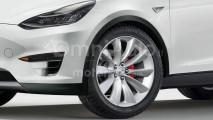 Tesla Model Y, il rendering