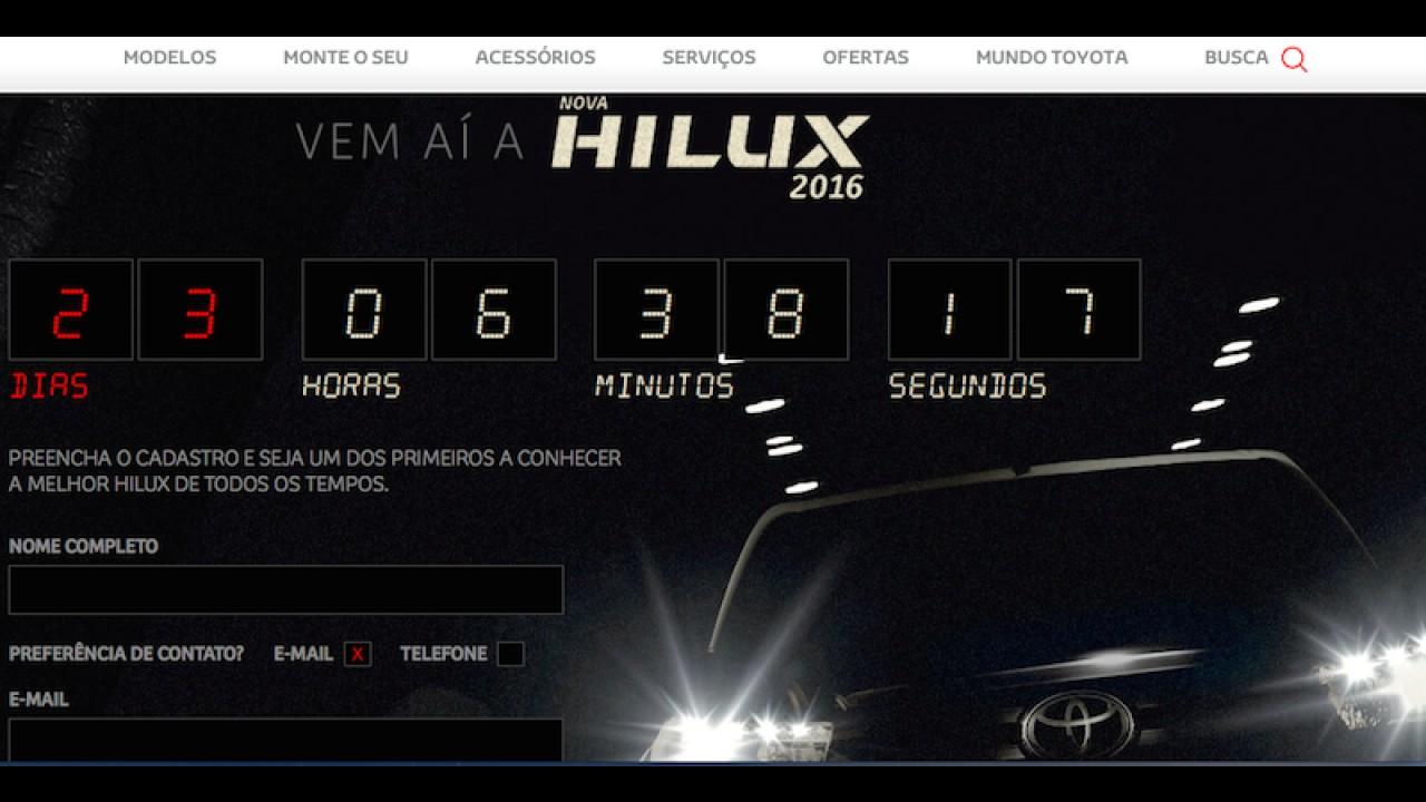 Toyota lança cronômetro para anunciar estreia da nova Hilux no Brasil