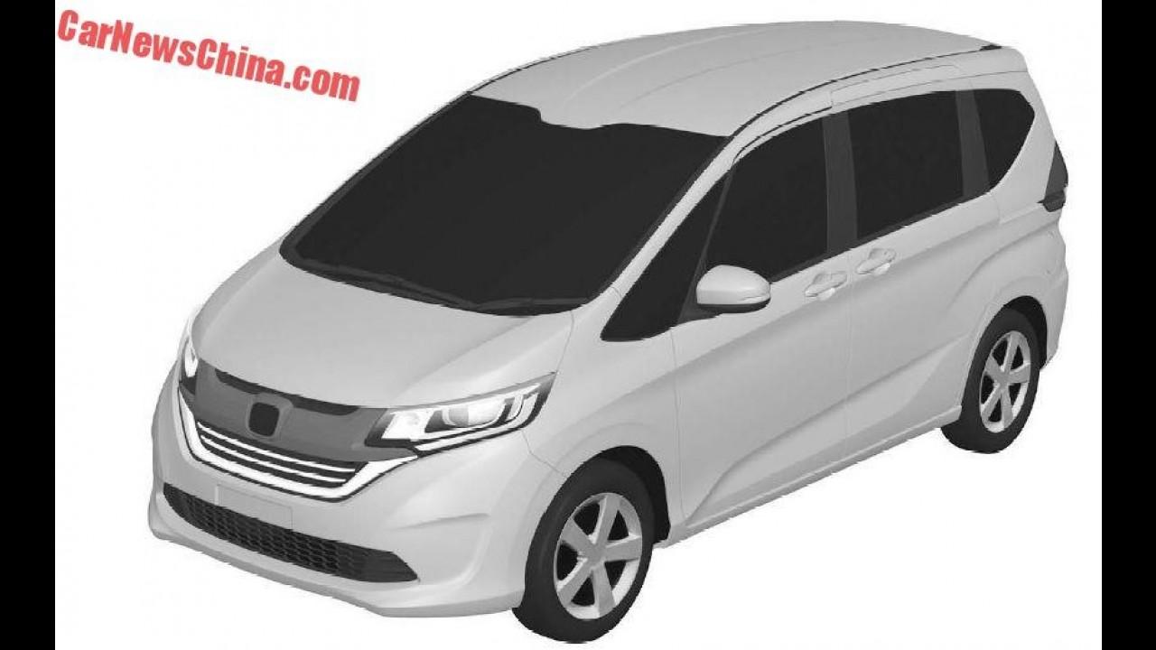 Baseado no Fit, Honda Freed de nova geração tem imagens de patente vazadas