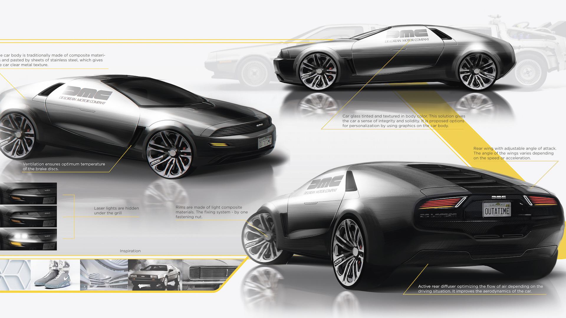 Designer Dreams Up A Modern Delorean Sports Car