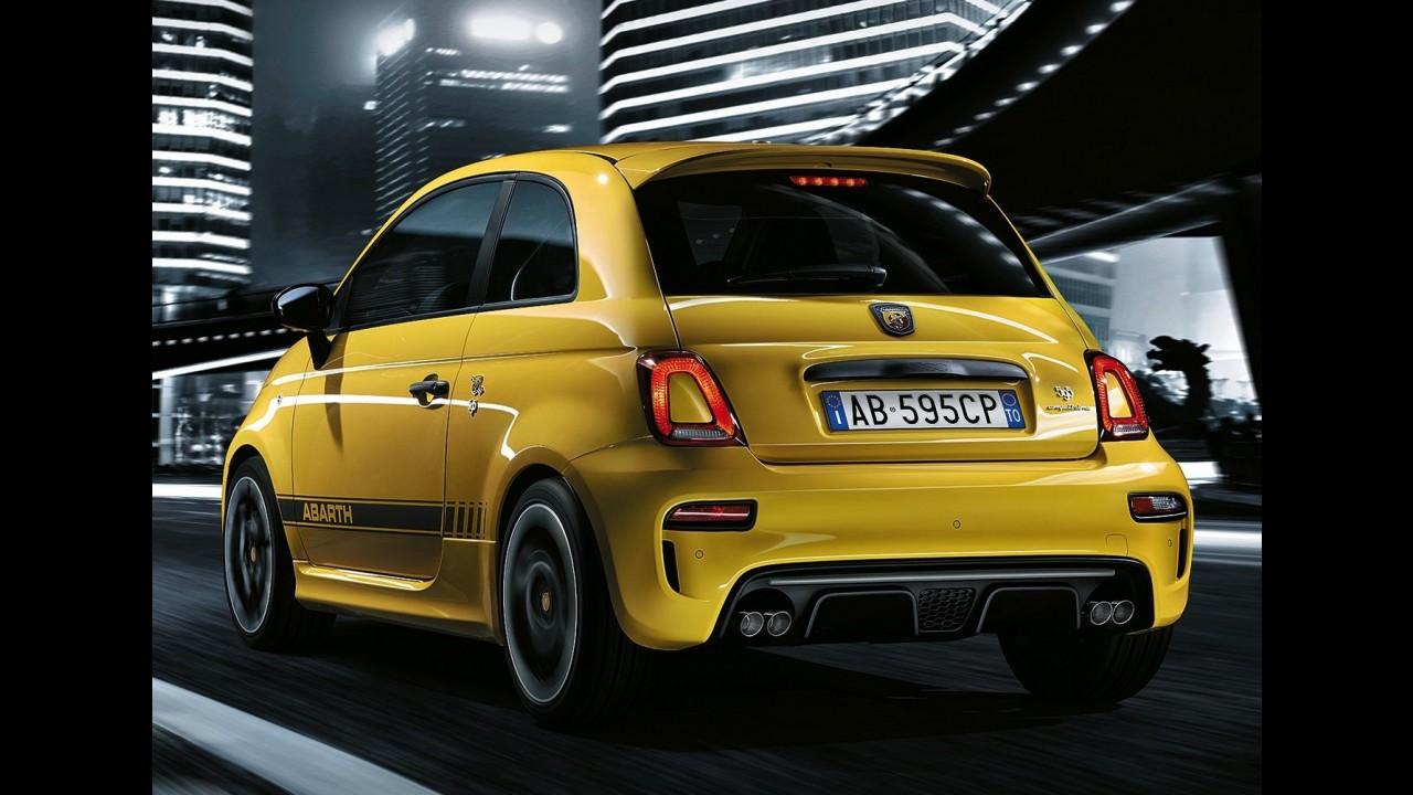 Abarth 595 atualiza visual como o Fiat 500 e fica mais potente