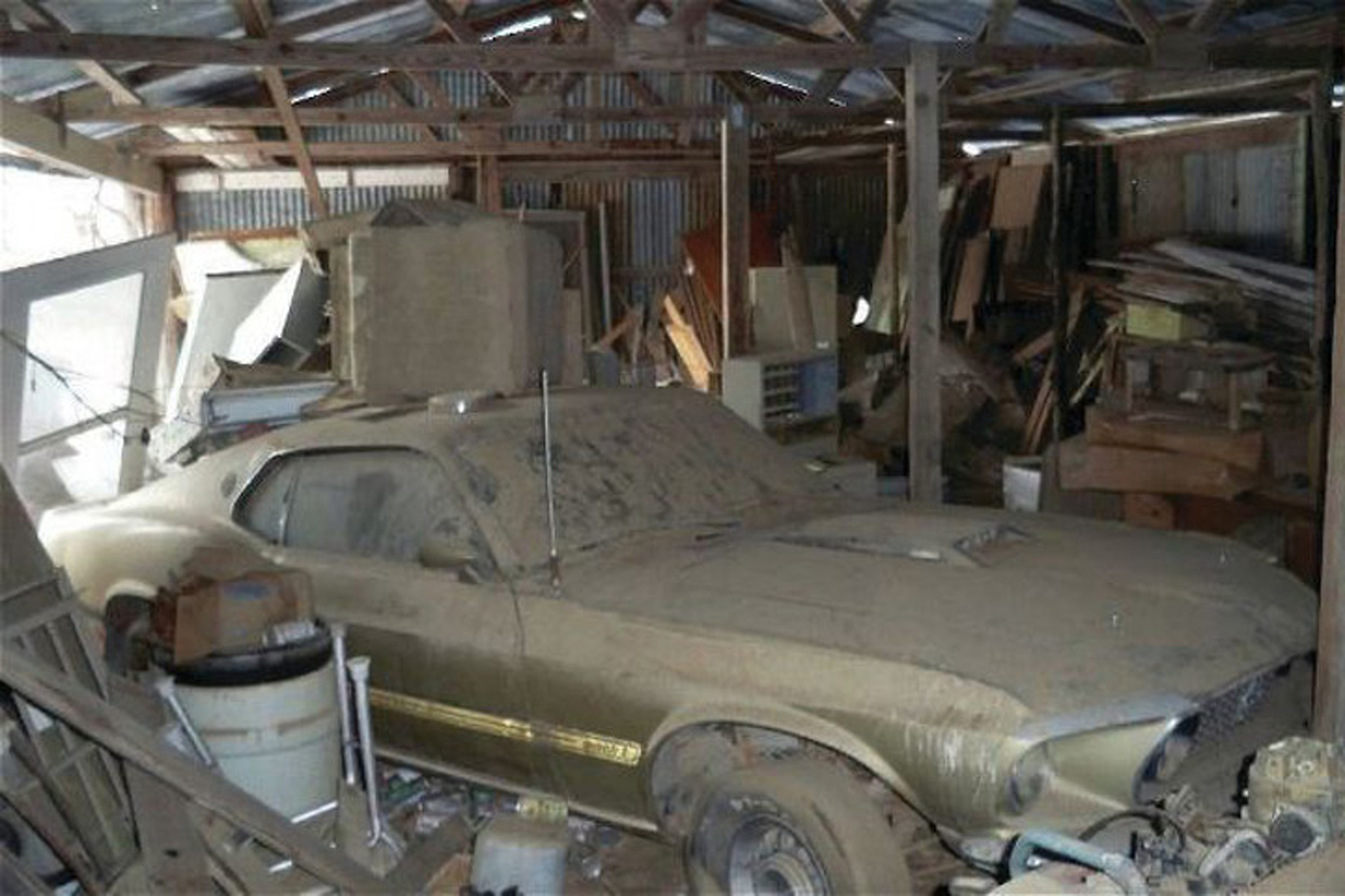 Barn find a 69 mach 1 saved from the junk pile