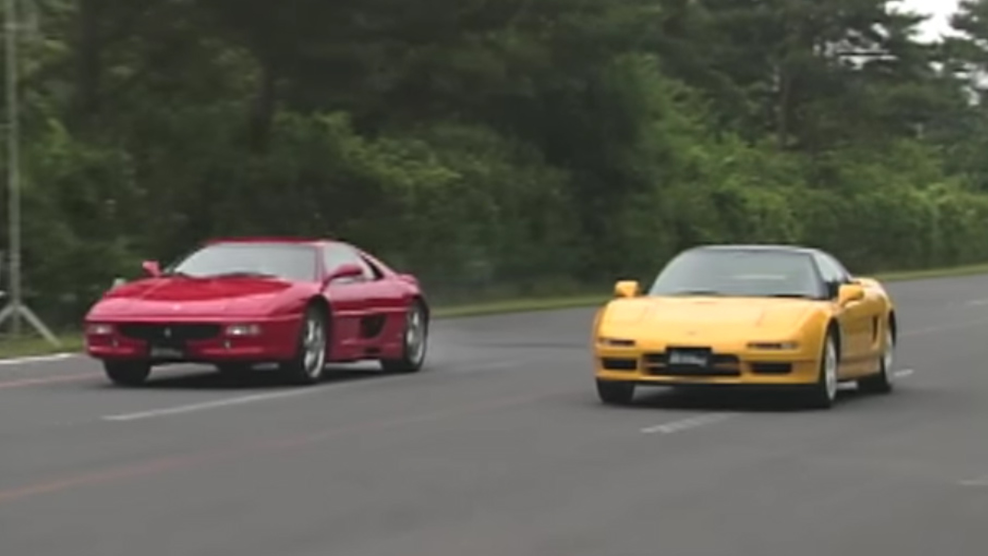 Acura Nsx R And Ferrari F355 Drag Race Transports Us Back To 1995