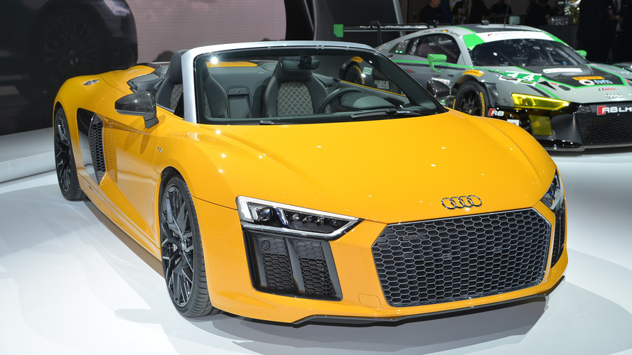 2017 Audi R8 V10 Spyder live in New York