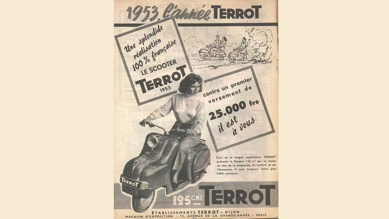 A painfully 50s ad for the Terrot.