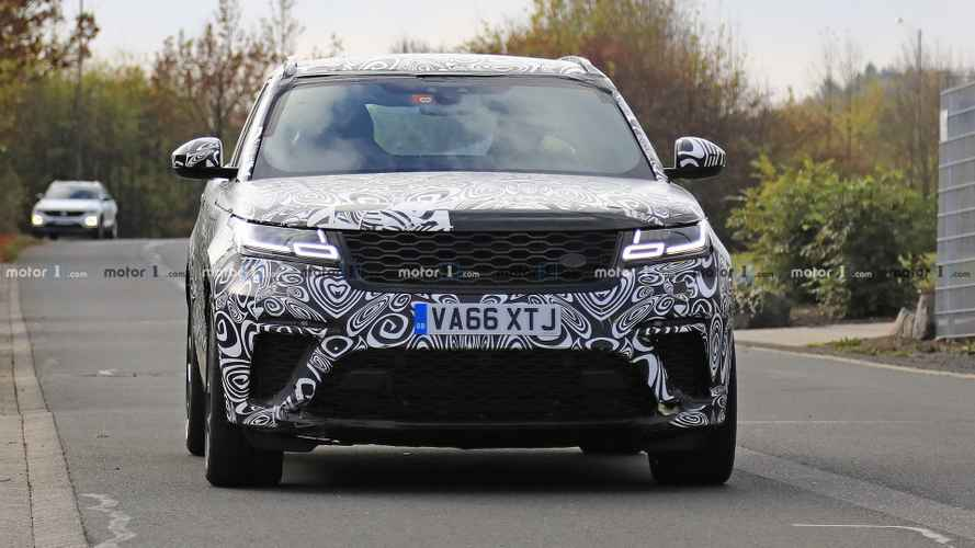 Range Rover Velar SVR new spy photos