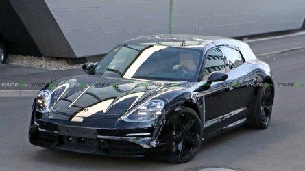 Flagra: Porsche Taycan terá versão perua Sport Turismo
