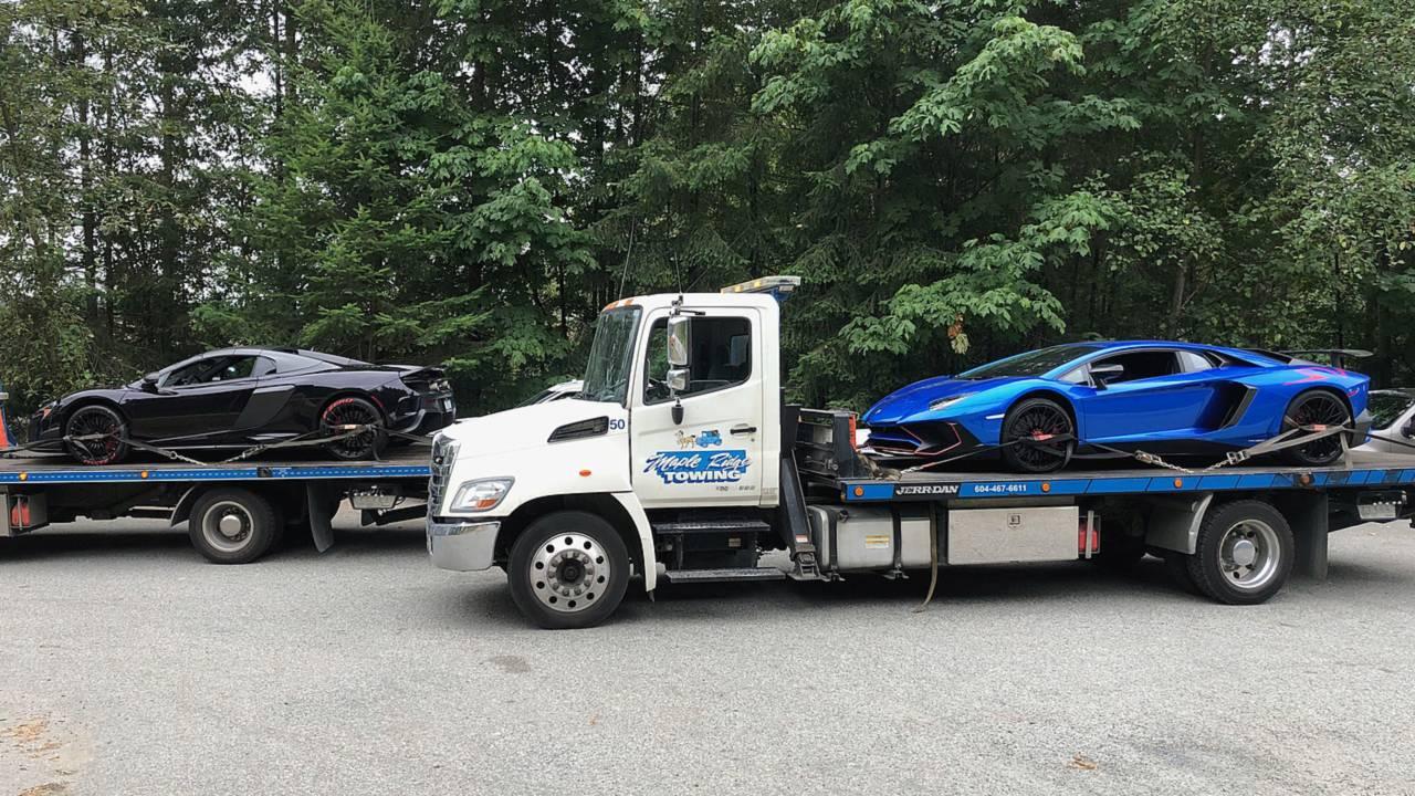 Impounded Lamborghini And McLaren