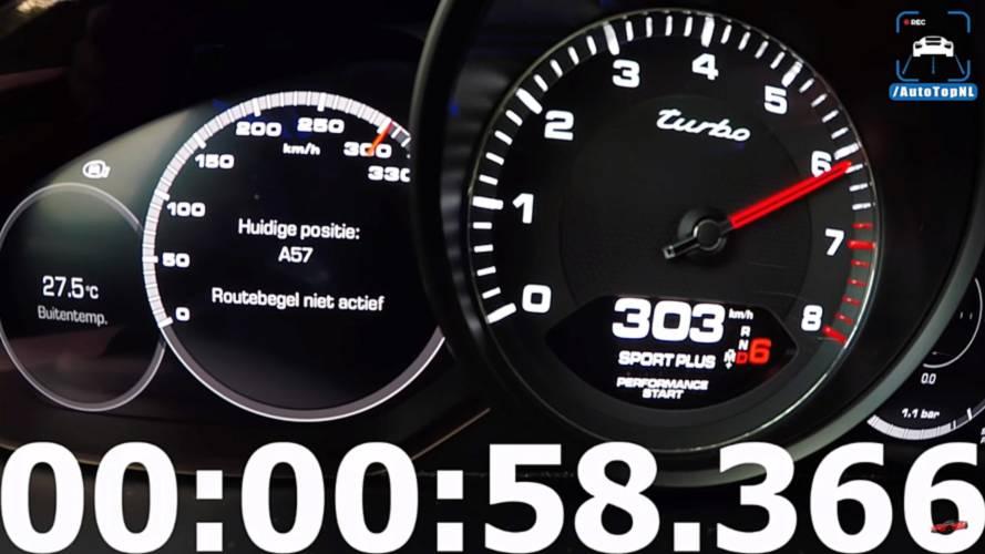 VIDÉO - L'accélération du Porsche Cayenne Turbo de 0 à 307 km/h