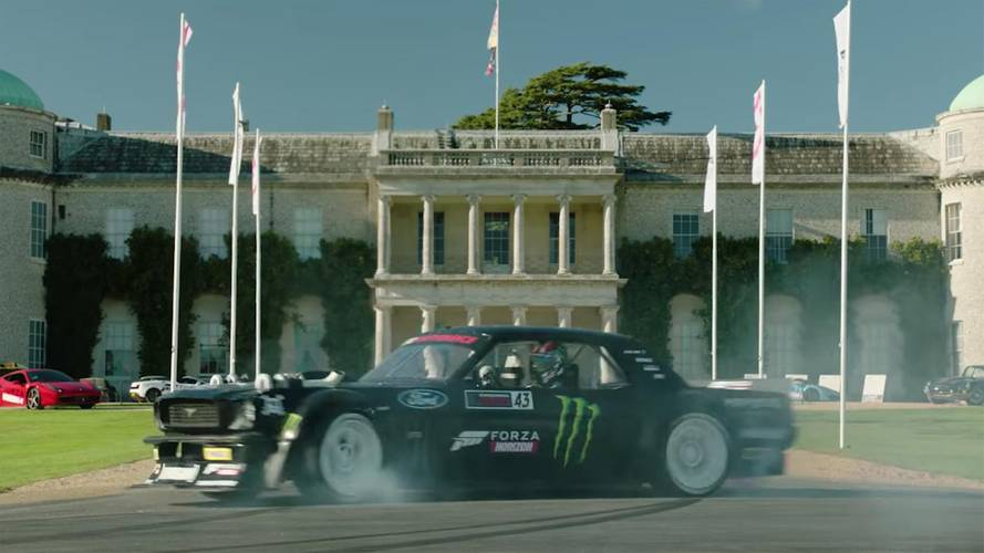 Ken Block en drift à Goodwood pour le lancement de Forza Horizon 4