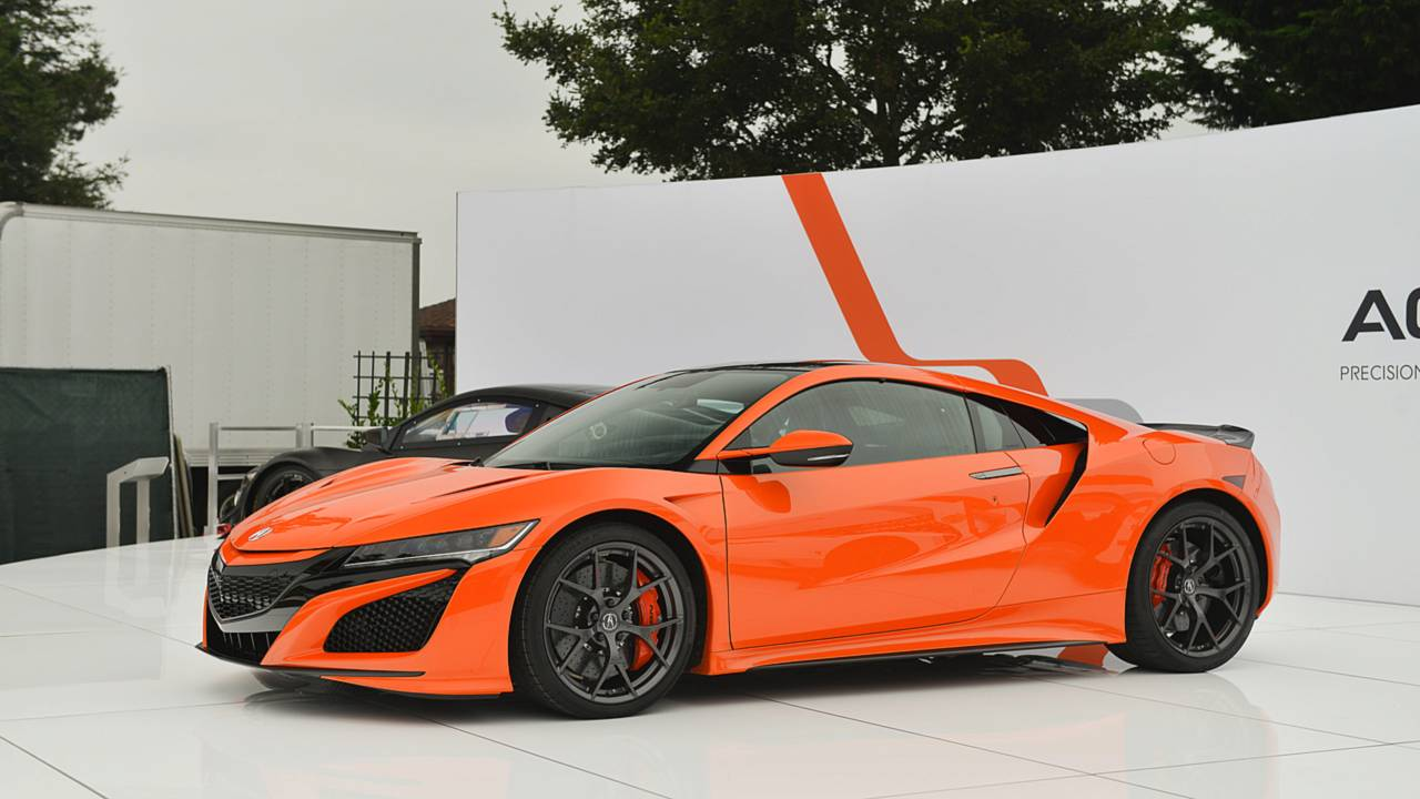 Acura Squeezes More Performance Out Of NSX Adds Orange Paint - Acura sports car nsx price