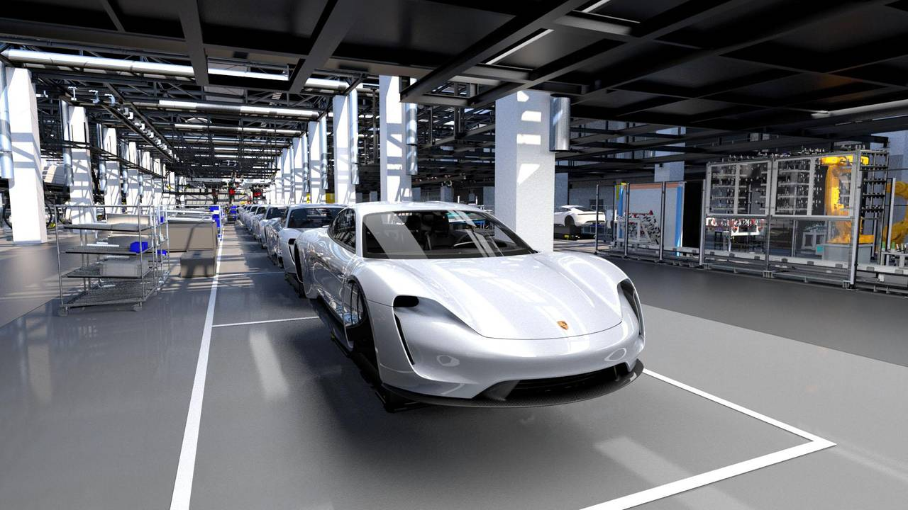 Porsche Taycan production lines