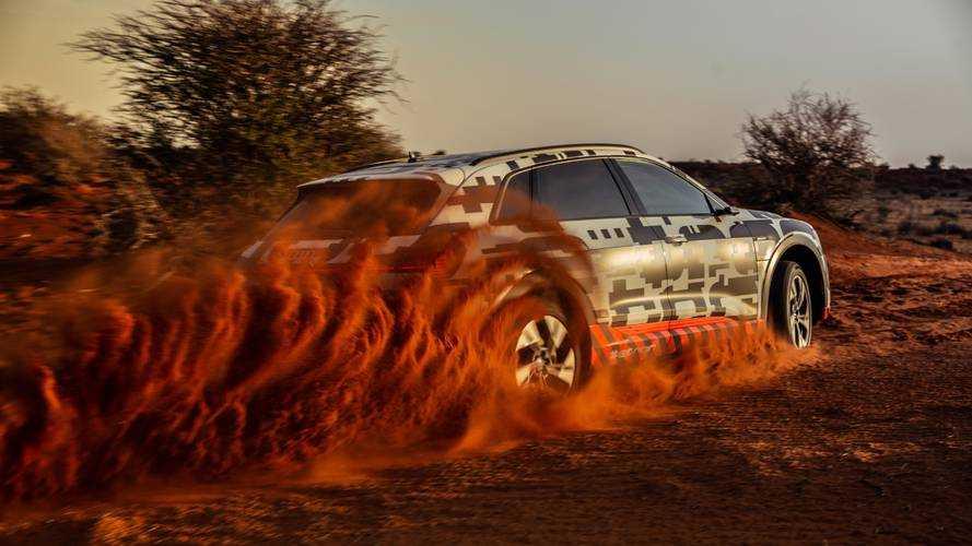 Audi e-tron test in Namibia