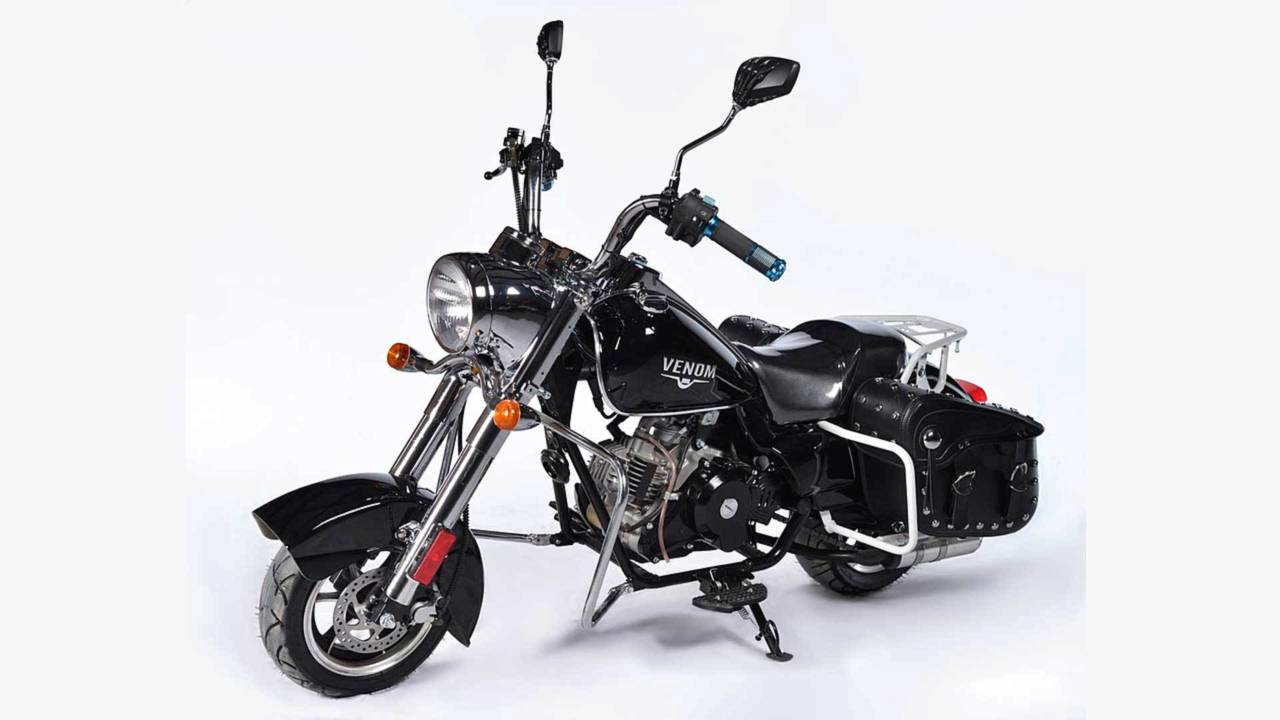 This 49cc Venom mini-chopper was born to be mild.