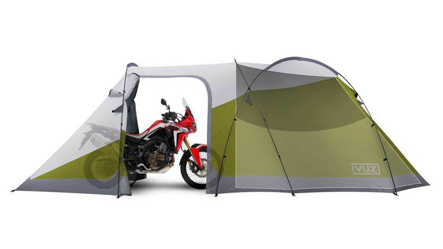 A Garage on the Go for the Avid Bike Camper
