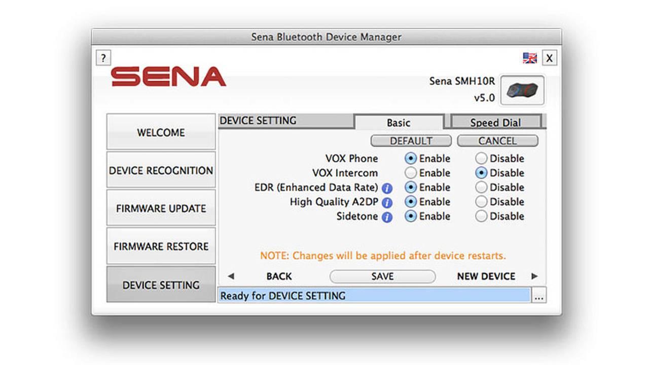 Gear: Sena Bluetooth New Firmware Features