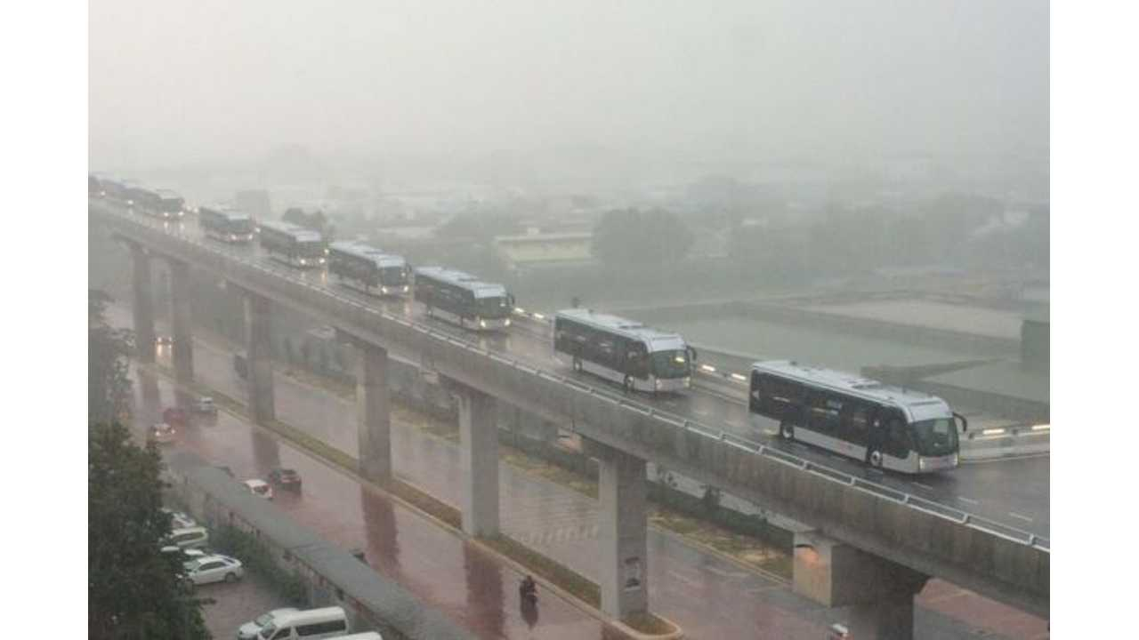 Malaysia Launches World's First Elevated Electric Bus Rapid Transit System