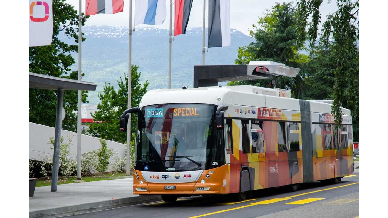 12 Ultra-Fast Charging Electric Buses For Geneva in 2017