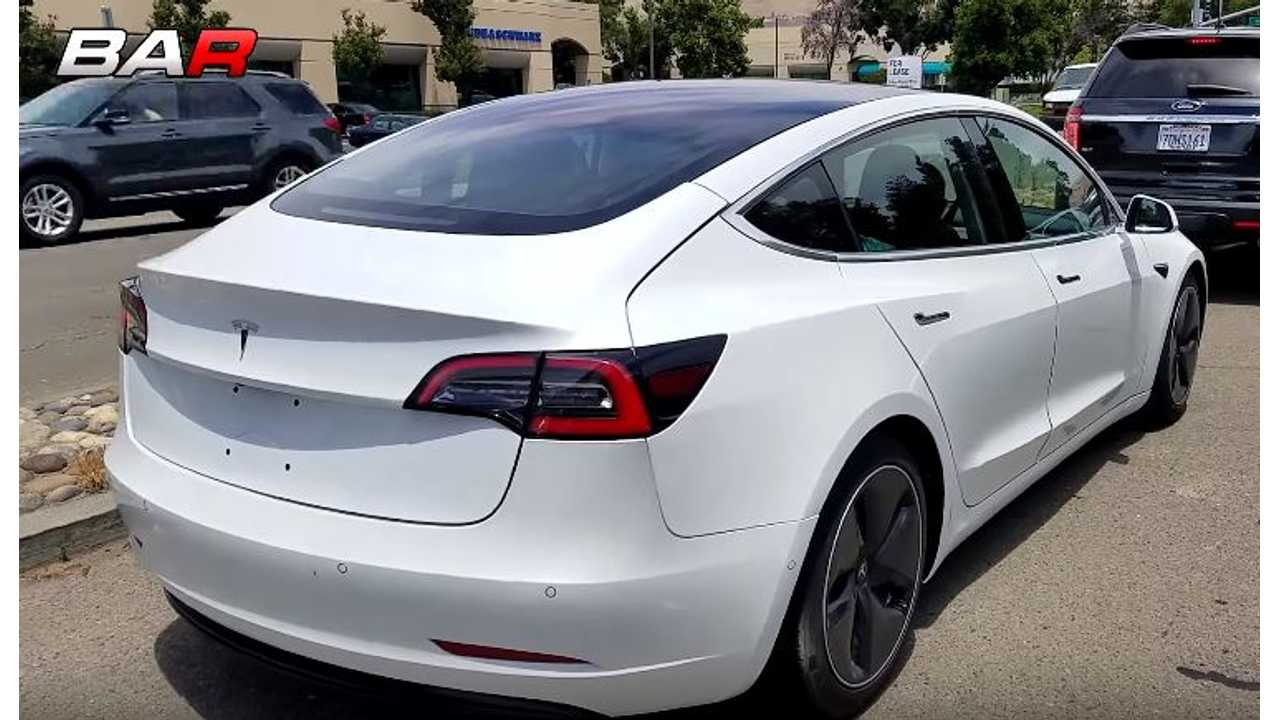 High-Res & Up-Close Video Of Tesla Model 3 In White On Public Roads