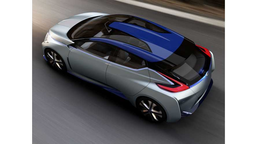 """Nissan IDS Concept:  """"The Future Nissan LEAF In Drag"""", 60 kWh NMC Battery Inside"""