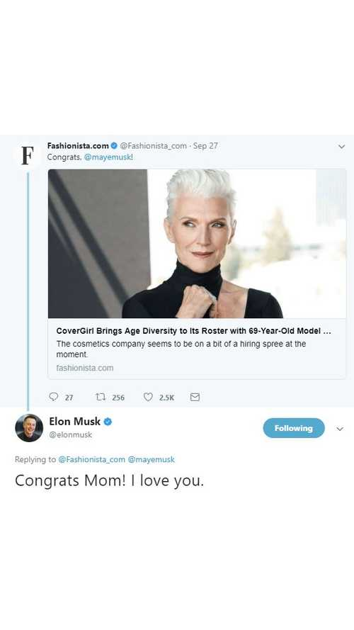 Elon Musk's Mother Can't