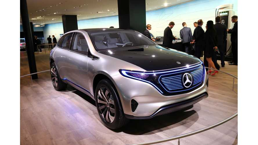 Mercedes Predicts EQ Electric Vehicles Could Account For 25% Of Global Sales By 2025