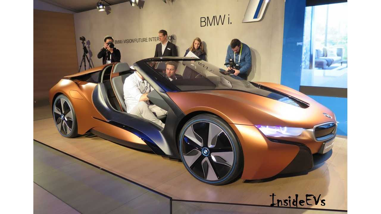 We caught the BMW i8 i Vision from CES in 2016