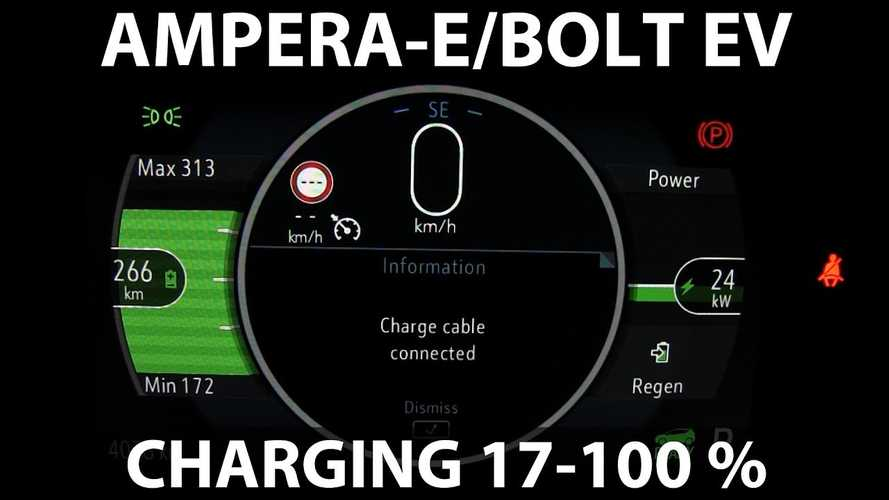 Watch This Opel Ampera-E Fast Charge To 100% At 175 kW Charger