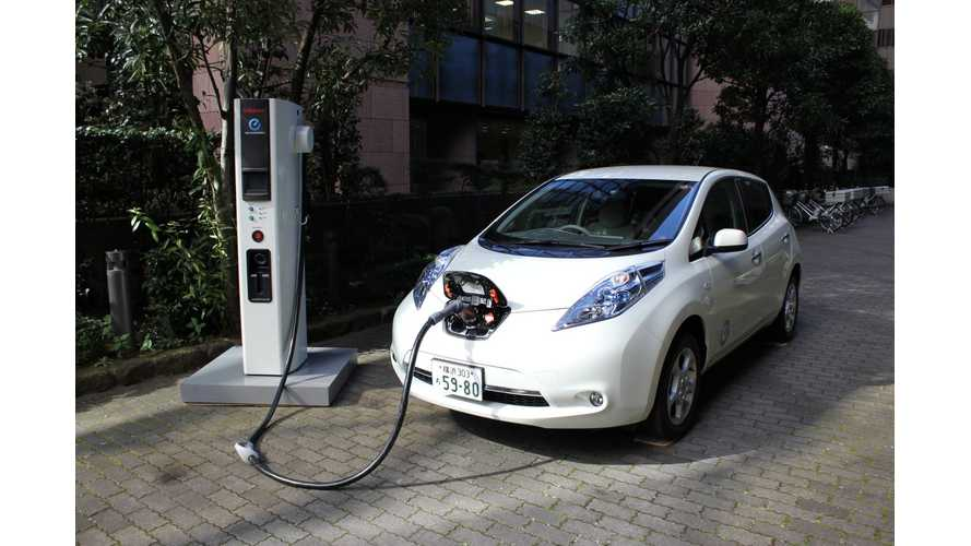 Nissan: Japan Will Double Number Of Quick Chargers From 2,900 to 6,000 By March 2015