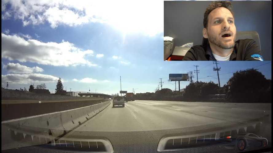 Watch Tesla Model S On Autopilot Hit Cement Divider: Video