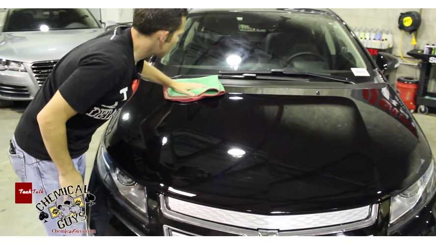Chemical Guys Show You How To Achieve A Wet Mirror-Like Finish On Black Chevy Volt