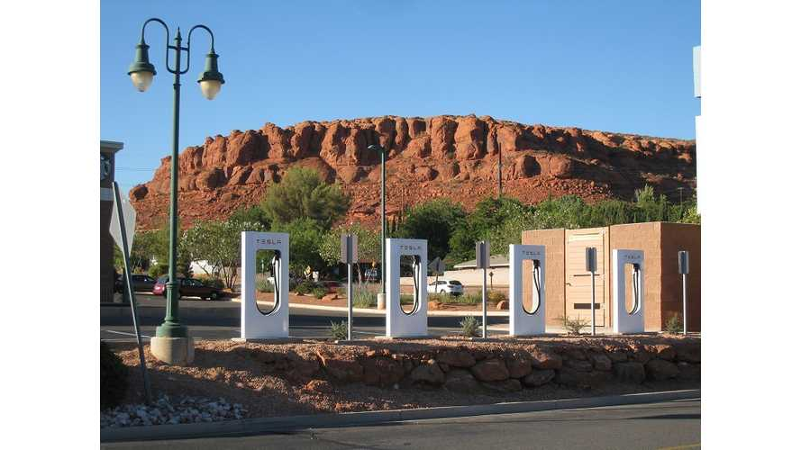 Tesla Supercharger - From Start Of Construction To Activation In St. George Utah