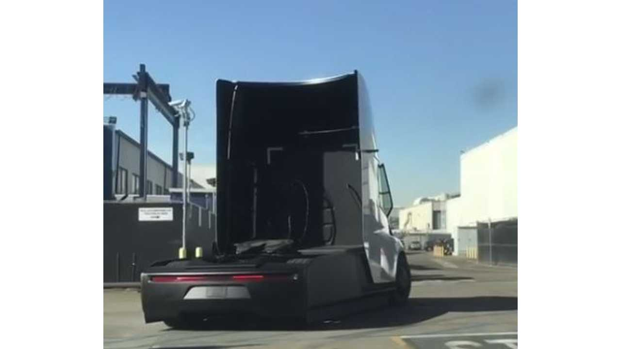 """Tesla Semi Tractor Appears To Have """"Electric Aero Ears"""""""