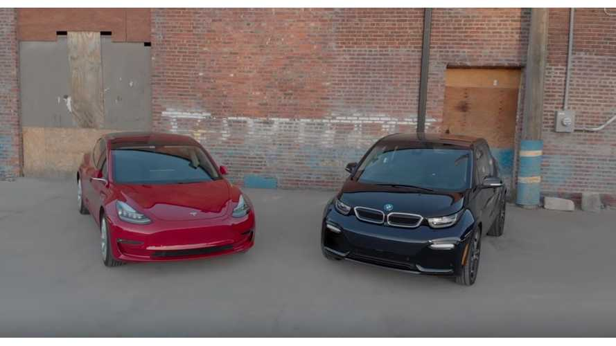 Comparison: Tesla Model 3 vs BMW i3s - Video