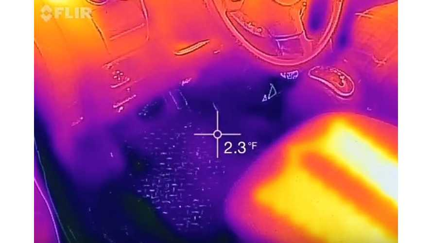 Thermal Camera Shows Heat In Mitsubishi i-MiEV - Video