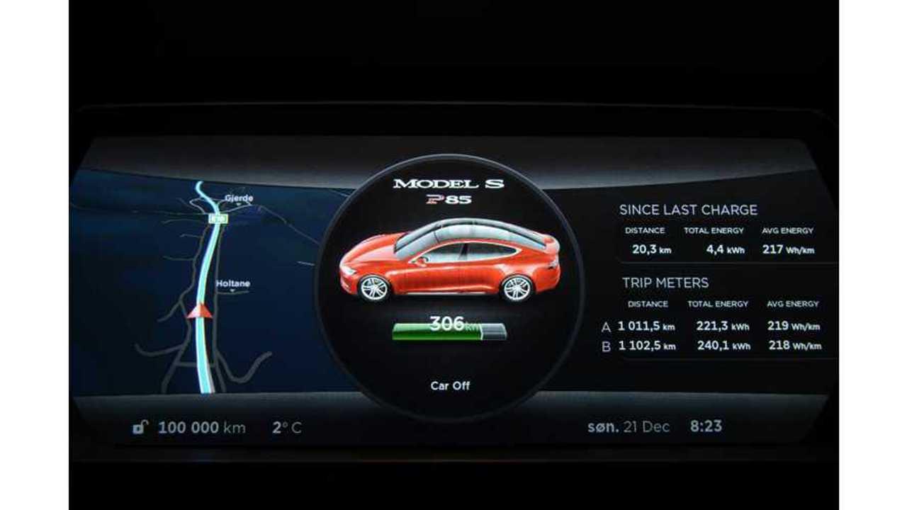 Bjorn Nyland - Tesla Model S - 100,000 kilometers