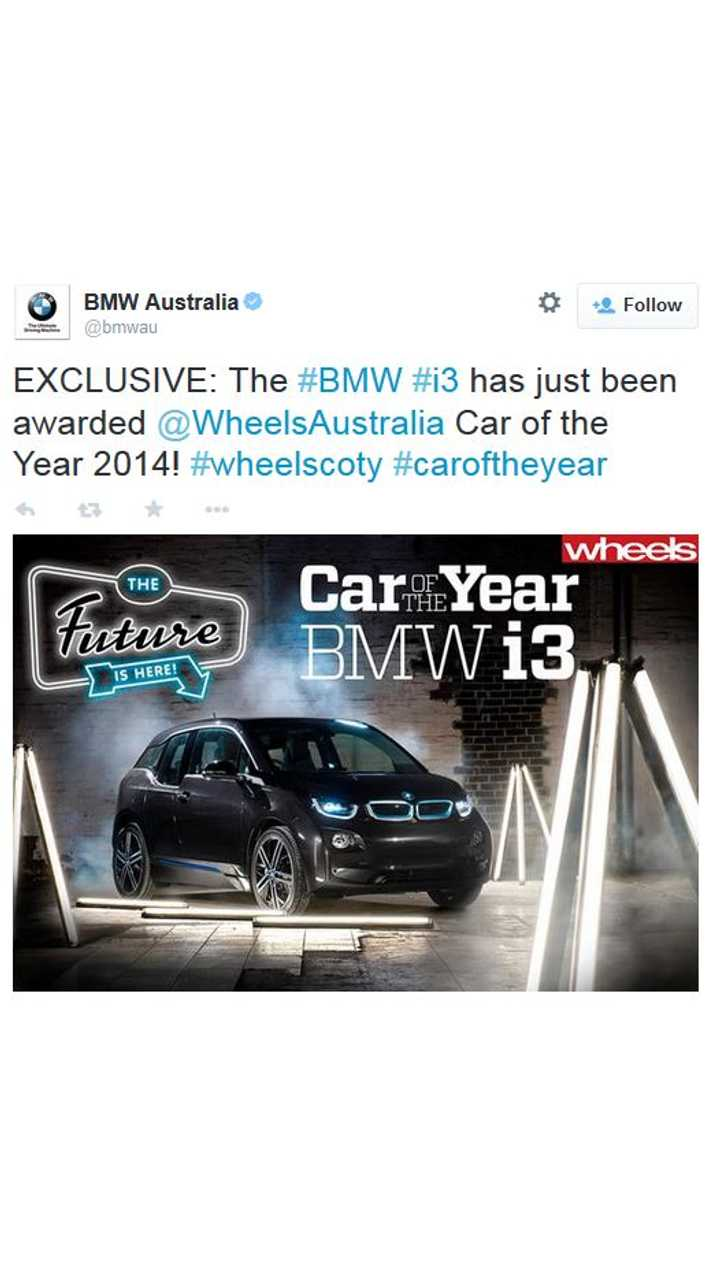 BMW i3 Wins One More Car Of The Year Award