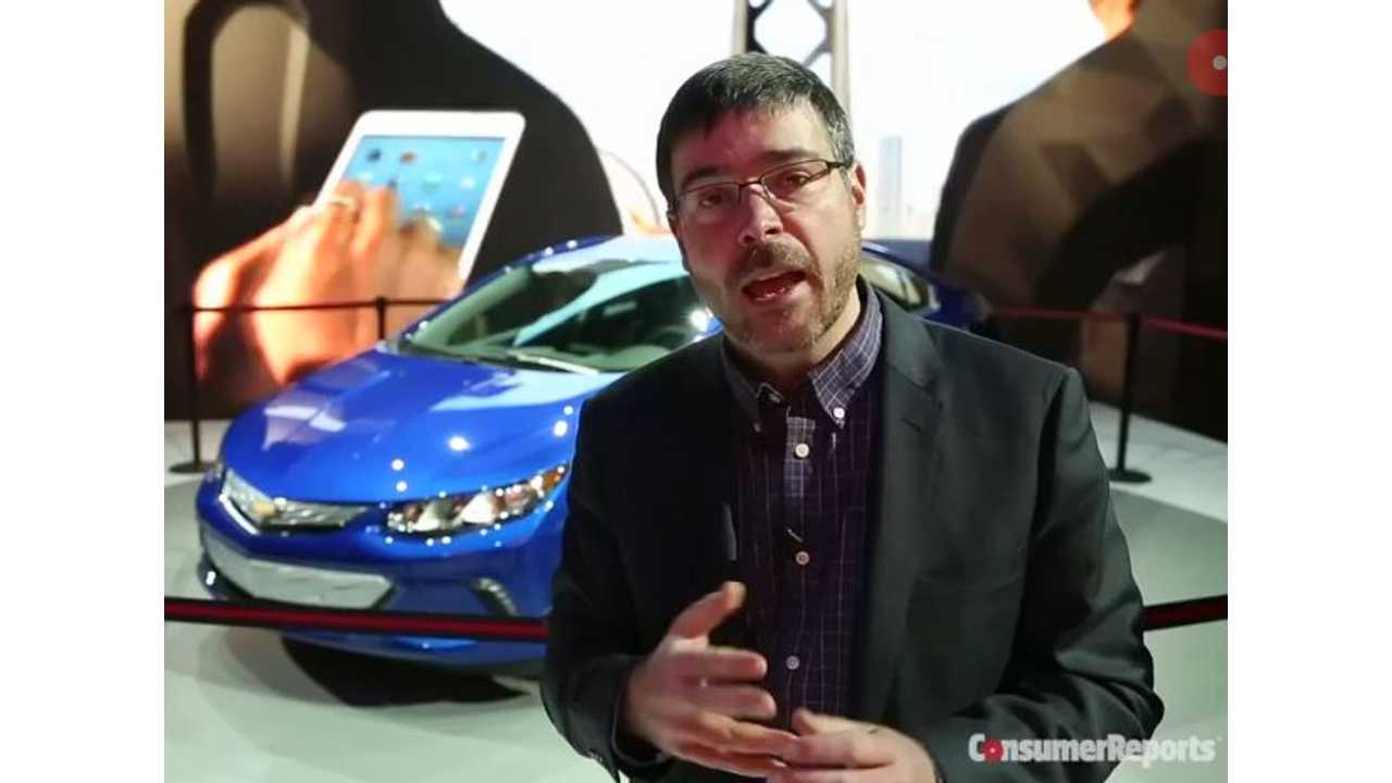 Consumer Reports Comments On 2016 Chevrolet Volt - (w/video)
