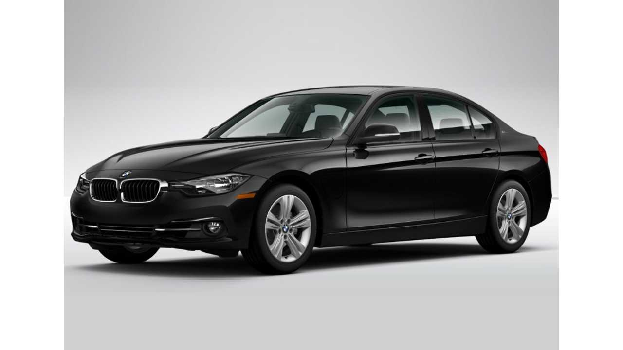 2017 BMW 330e - Like All Plug-Ins Sold In The US, It Wisely Is Offered In Black