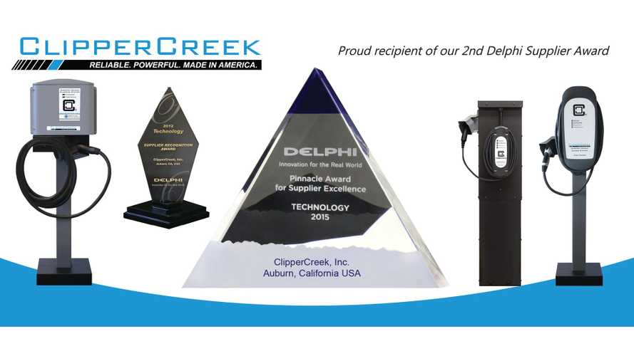 ClipperCreek Receives Technology Award from Delphi Automotive
