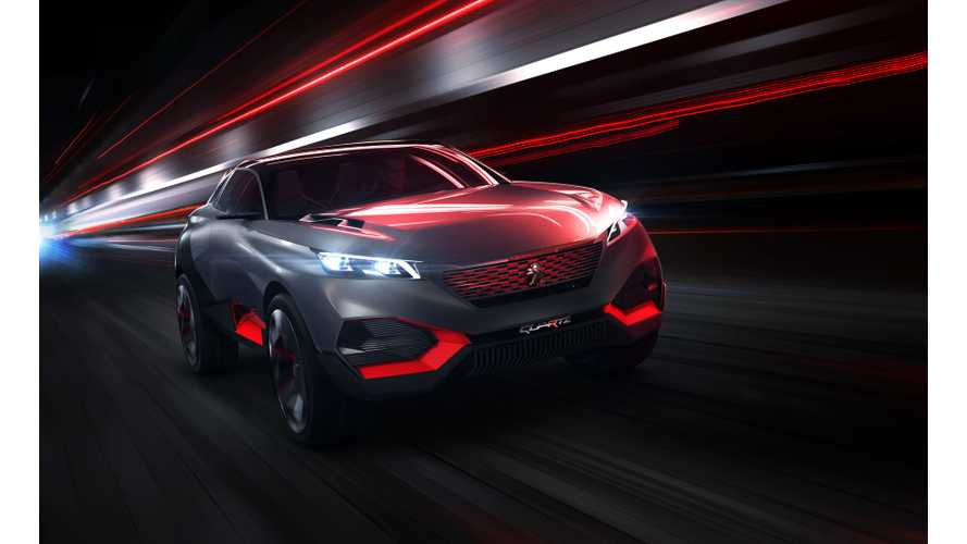 Peugeot Reveals Plug-in SUV QUARTZ Concept Ahead Of Paris Motor Show