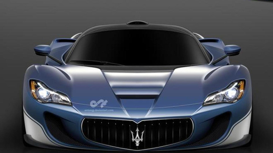 Rumored LaFerrari-based Maserati supercar rendered