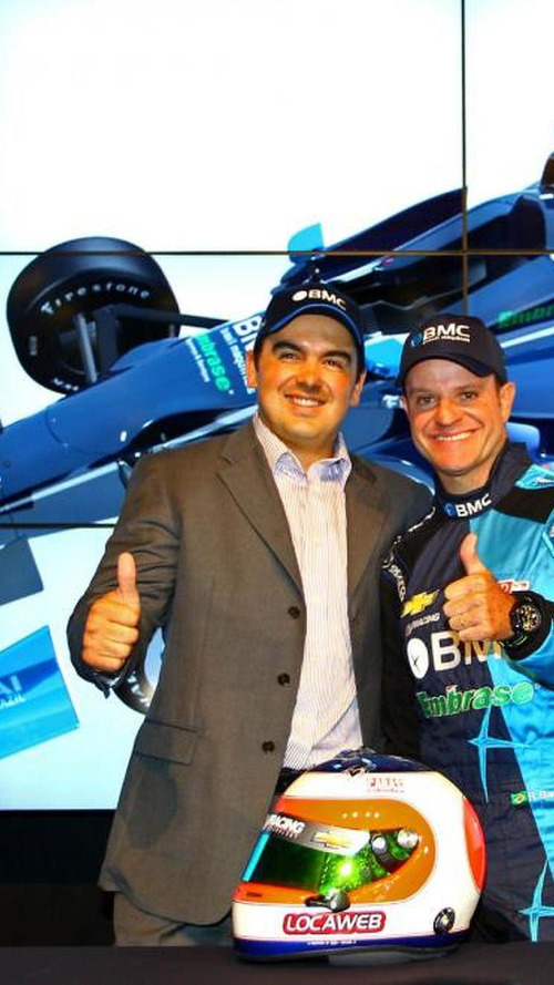 Rubens Barrichello announces Indycar drive with KV team and sponsor BMC Brasil Maquinas, 1120, 02.03.2012