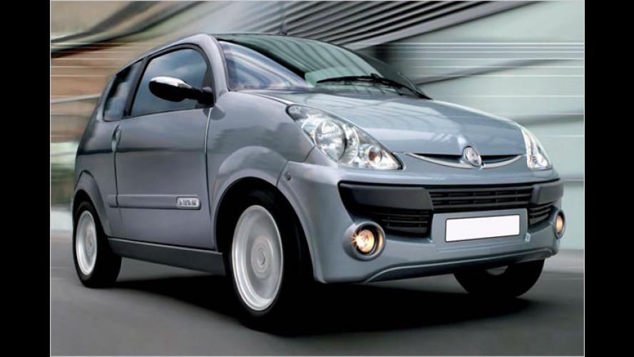 Elektroautos von Nice Cars: Stille Stars der London-Messe
