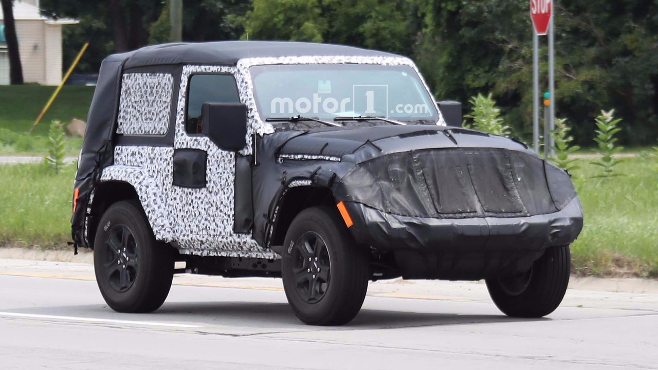 2018 Jeep Wrangler Two-Door Spy Photo