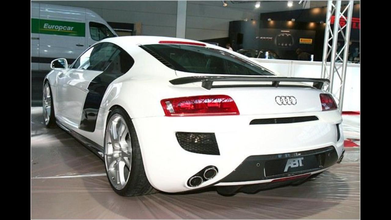 Noch in der Erprobungsphase, aber bald zu haben: Der von Abt per Kompressor auf 530 PS hochgepowerte Audi R8